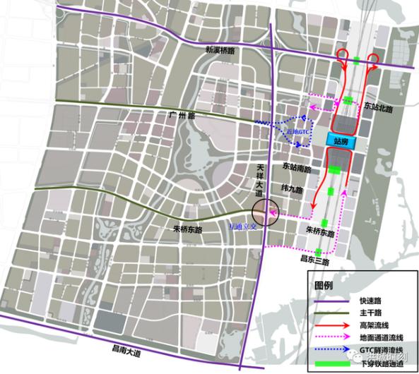 南昌东站枢纽交通详细规划出炉 铁路地铁实现无缝衔接