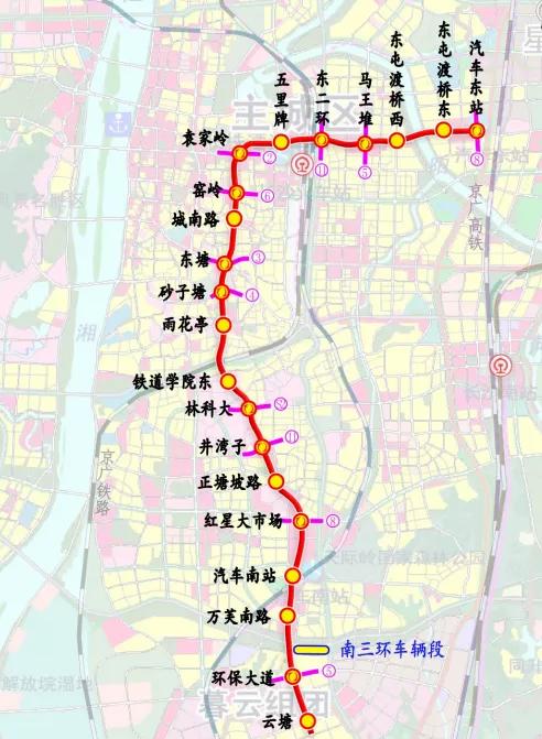 长沙地铁7号线10月开工!8、9号线也在路上了~~