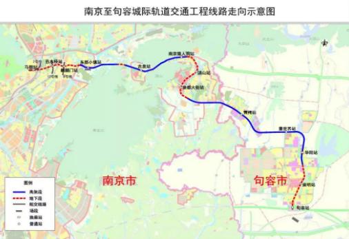 南京首条城际地铁开始不载客试运行
